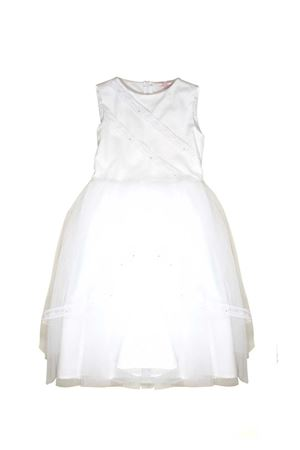 WHITE DRESS IN LACE FOR GIRL MISS BLUMARINE JUNIOR Miss Blumarine | -675681197 | MBL1146BIANCO