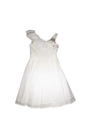 CREAM LACE DRESS FOR GIRL MISS BLUMARINE JUNIOR Miss Blumarine | -675681197 | MBL1156PANNA