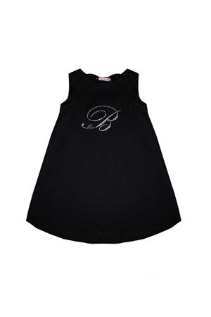 BLACK GIRL DRESS BLACK MISS BLUMARINE JUNIOR Miss Blumarine | -675681197 | MBL1165NERO