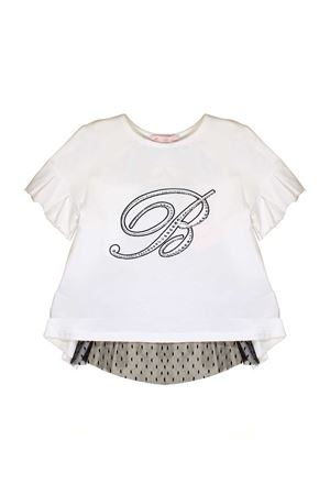 T-SHIRT WITH TULLE MISS BLUMARINE JUNIOR FOR GIRL Miss Blumarine | 8 | MBL1194SETA