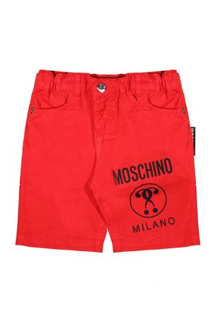 RED SHORTS FOR BOY MOSCHINO KIDS MOSCHINO KIDS | 30 | HNP01TL0C0150316