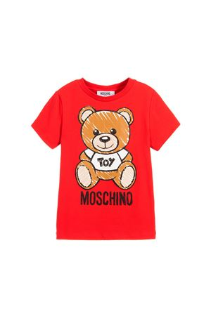 RED T-SHIRT MOSCHINO KIDS FOR BOY  MOSCHINO KIDS | 8 | HPM01ILBA0050316