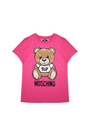 T-SHIRT FUCHSIA MOSCHINO KIDS FOR BOY MOSCHINO KIDS | 8 | HPM01ILBA0050875