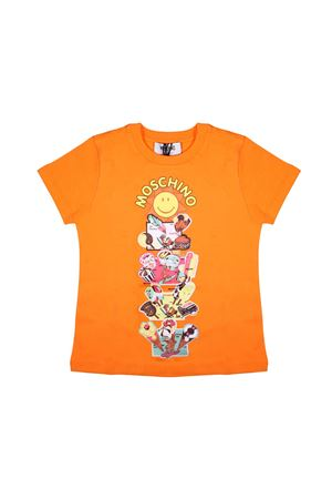 T-SHIRT ARANCIO MOSCHINO KIDS TEEN MOSCHINO KIDS | 7 | HPM024LBA10T50110