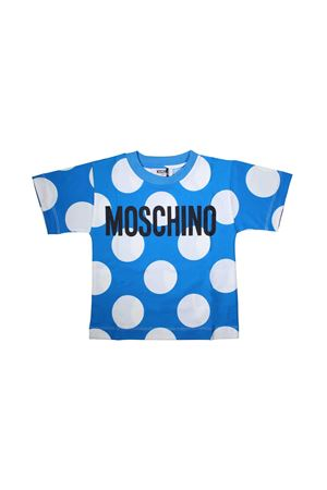 T-SHIRT A POIS FOR BOY MOSCHINO KIDS BLUE MOSCHINO KIDS | 8 | HUM02DLAB1284221