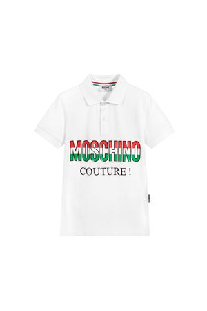 WHITE POLO MOSCHINO KIDS FOR BOY  MOSCHINO KIDS | 2 | HUM02ELEA0110101