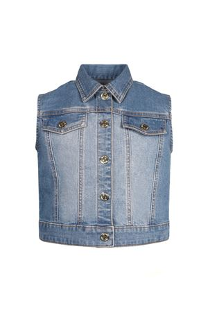 GILET IN DENIM BAMBAINO MOSCHINO KIDS MOSCHINO KIDS | 38 | MAS01TLXE1640613