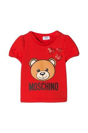 RED T-SHIRT MOSCHINO KIDS GIRL  MOSCHINO KIDS | 8 | MDM02ALBA1050316