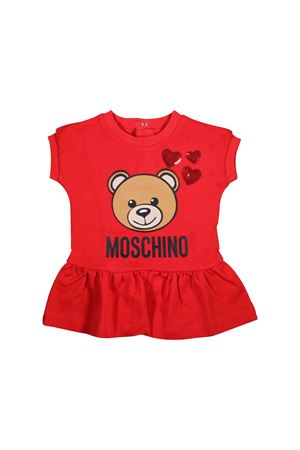 ABITO ROSSO NEONATA MOSCHINO KIDS MOSCHINO KIDS | 11 | MDV06ULDA1250316