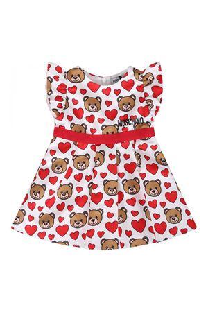 DRESS WITH HEARTS MOSCHINO KIDS GIRL  MOSCHINO KIDS | 11 | MDV071LRB0184007