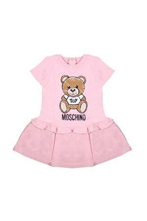 PINK SHORT-SLEEVED DRESS MOSCHINO KIDS GIRL  MOSCHINO KIDS | 11 | MDV074LDA0050209