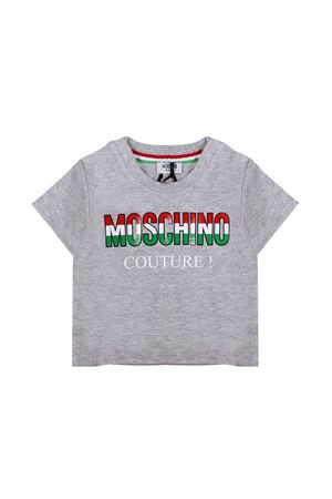 NEWBORN GREY T-SHIRT MOSCHINO KIDS MOSCHINO KIDS | 8 | MMM021LAA0960901