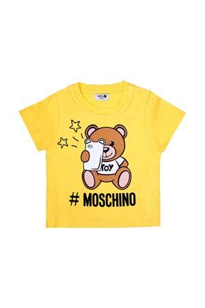 YELLOW BABY T-SHIRT MOSCHINO KIDS  MOSCHINO KIDS | 8 | MTM01HLBA1050618