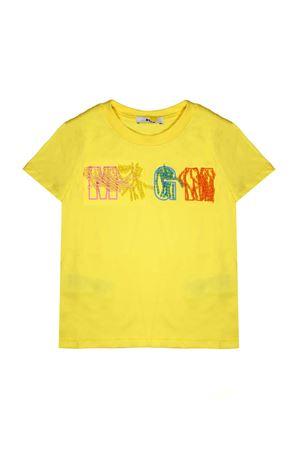 YELLOW T-SHIRT MSGM KIDS WITH APPLICATIONS  MSGM KIDS | 8 | 018091020