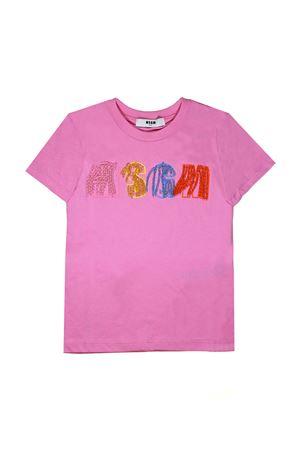 PINK T-SHIRT WITHAPPLICATIONS MSGM KIDS TEEN MSGM KIDS | 8 | 018091042T