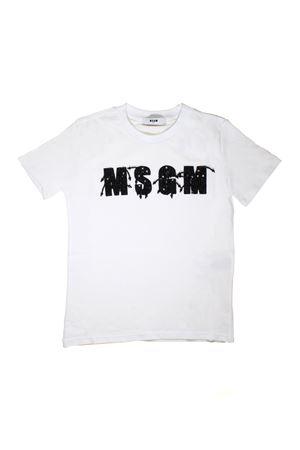 MSGM KIDS TEEN WHITE T-SHIRT MSGM KIDS | 8 | 018111001T