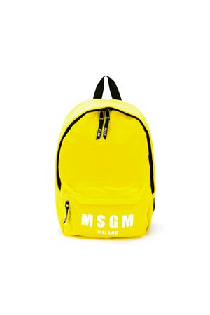YELLOW BABY BACKPACK MSGM KIDS MSGM KIDS | 279895521 | 018464020