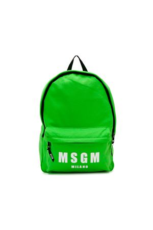 GREEN BABY BACKPACK MSGM KIDS  MSGM KIDS | 279895521 | 018464169