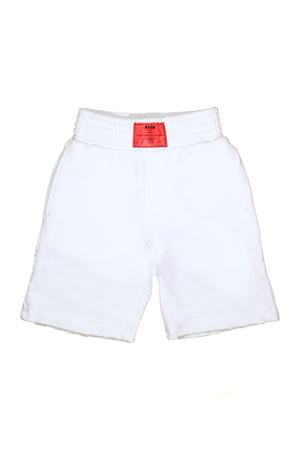 WHITE BERMUDA WITH RED PATCH MSGM KIDS MSGM KIDS | 5 | 018547001
