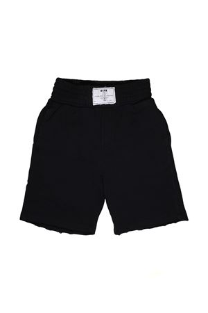 BLACK BERMUDA WITH WHITE PATCH MSGM KIDS MSGM KIDS | 5 | 018547110