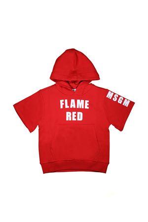 RED SWEATER MSGM KIDS SHORT SLEEVE  MSGM KIDS | 5032280 | 018601040
