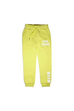 JOGGING TROUSERS YELLOW FLUO  MSGM KIDS  MSGM KIDS | 9 | 018609023
