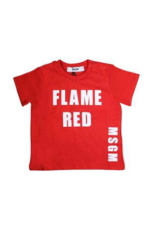 RED T-SHIRT MOSCHINO KIDS FOR BOY MSGM KIDS | 8 | 018781040