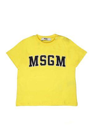 T-SHIRT GIALLA CON LOGO NERO MSGM KIDS MSGM KIDS | 8 | 018783020