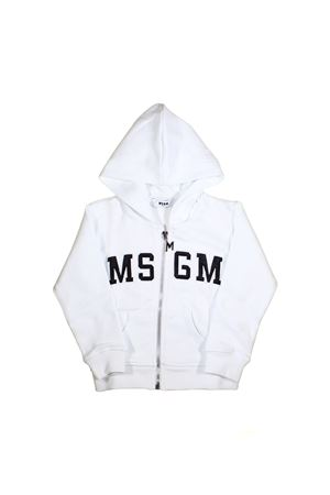 WHITE BABY SWEATSHIRT MSGM KIDS WITH BLACK LOGO  MSGM KIDS | -108764232 | 019033001