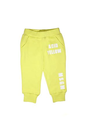 YELLOW FLUO TROUSERS MSGM KIDS MSGM KIDS | 9 | 019034023