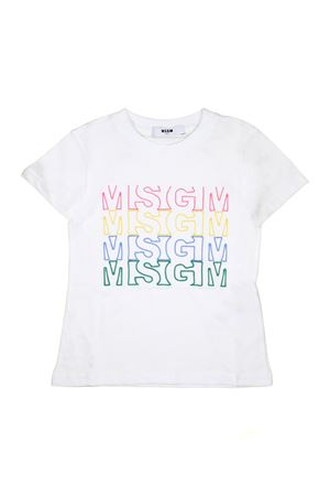 WHITE NEWBORN T-SHIRT MSGM KIDS | 8 | 019042001