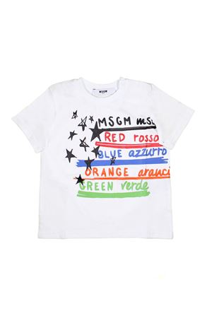 MULTICOLOR PRINTED T-SHIRT MSGM KIDS MSGM KIDS | 8 | 019051001