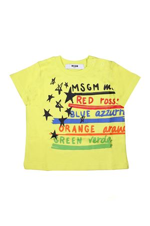 MULTICOLOR PRINTED T-SHIRT MSGM KIDS MSGM KIDS | 8 | 019051023