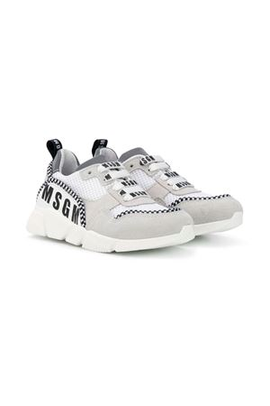 WHITE AND GRAY SNEAKERS MSGM KIDS MSGM KIDS | 12 | 019235001