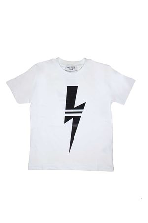 WHITE T-SHIRT NEIL BARRETT KIDS NEIL BARRETT KIDS | 8 | 018622001