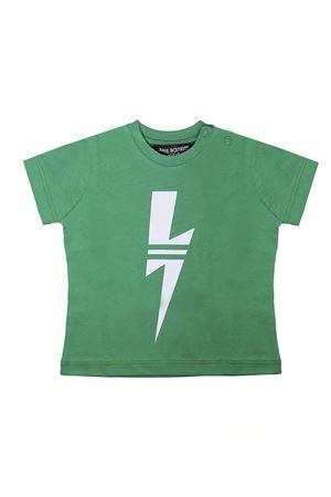 GREEN T-SHIRT NEIL BARRETT KIDS NEIL BARRETT KIDS | 8 | 018846080
