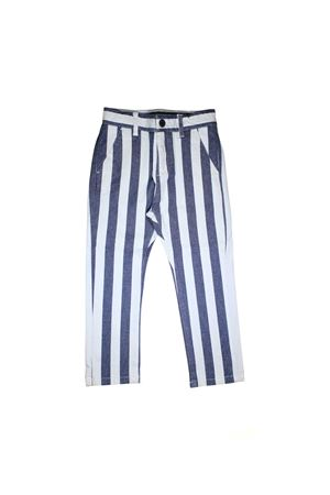 PAOLO PECORA JUNIOR STRIPED CHILDREN TROUSERS TEEN Paolo Pecora kids | 9 | PP1827TBIANCO/BLU