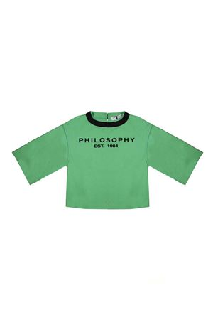 GIRL GREEN BLOUSE AQUAMARINE PHILOSOPHY KIDS PHILOSOPHY KIDS | 6 | PJCA10CA235TH0130027