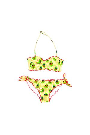 BIKINI EMY A RIGHE GIALLE SAINT BARTH KIDS TEEN SAINT BARTH | 85 | EMYTAVCLN9