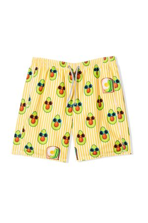 STRIPED YELLOW BERMUDA SAINT BARTH KIDS TEEN SAINT BARTH | 85 | JEANTAVCLN91