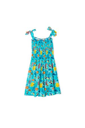 SAINT BARTH KIDS GIRL BLUE DRESS  SAINT BARTH | 1190342119 | LOLASEAB31