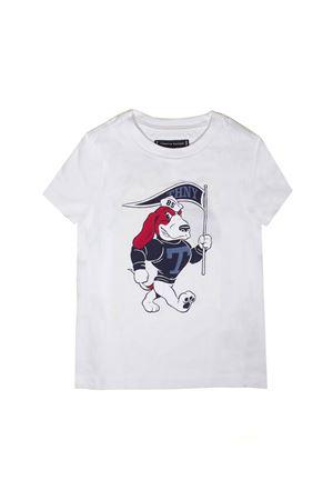 WHITE T-SHIRT DOG TOMMY HILFIGER TEEN  TOMMY HILFIGER KIDS | 8 | KB0KB04541123T