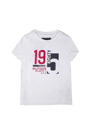 WHITE T-SHIRT PRINTED TOMMY HILFIGER TEEN TOMMY HILFIGER KIDS | 8 | KB0KB04543123T