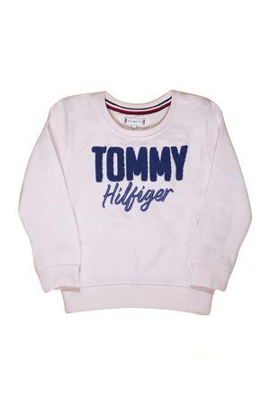 FELPA ROSA CON STAMPA BLU TOMMY HILFIGER TOMMY HILFIGER KIDS | -108764232 | KG0KG04040617