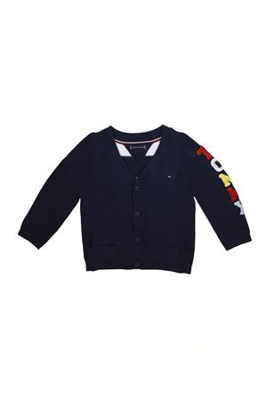 BLUE CARDIGAN WITH BUTTONS TOMMY HILFIGER TOMMY HILFIGER KIDS | 39 | KN0KN00957002