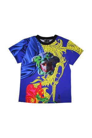 BLUE ROYAL BOY T-SHIRT YOUNG VERSACE  YOUNG VERSACE | 8 | YVFTS282YJEV16Y4942