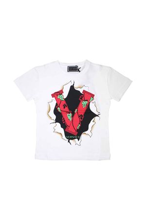 WHITE YOUNG VERSACE T-SHIRT FOR BOY  YOUNG VERSACE | 8 | YVMTS242Y0003Y4654