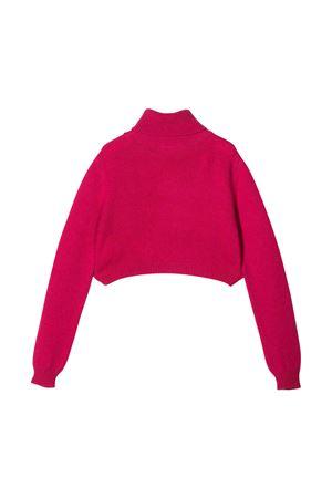 Pink merino-cashmere blend Chiara intarsia turtleneck jumper from CHIARA FERRAGNI KIDS  CHIARA FERRAGNI KIDS | 7 | CFKJM005FUXIA