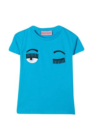 Light blue t-shirt Chiara Ferragni Kids  CHIARA FERRAGNI KIDS | 8 | CFKT005ATLANTIC