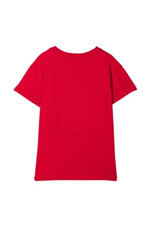 Red cotton graphic print short-sleeved T-shirt from CHIARA FERRAGNI KIDS  CHIARA FERRAGNI KIDS | 8 | CFKT023ROSSO